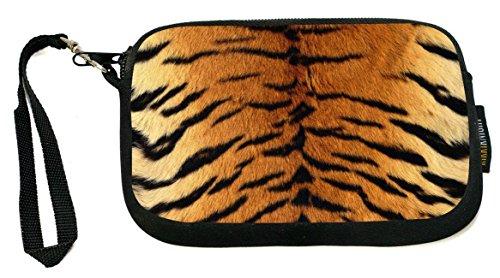 Tiger Clutch (Rikki Knight Tiger - Neoprene Clutch Wristlet Coin Purse with Safety Closure)