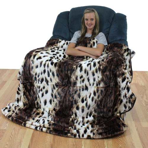 Leopard Print Throw Blanket / Bedspread by College Covers