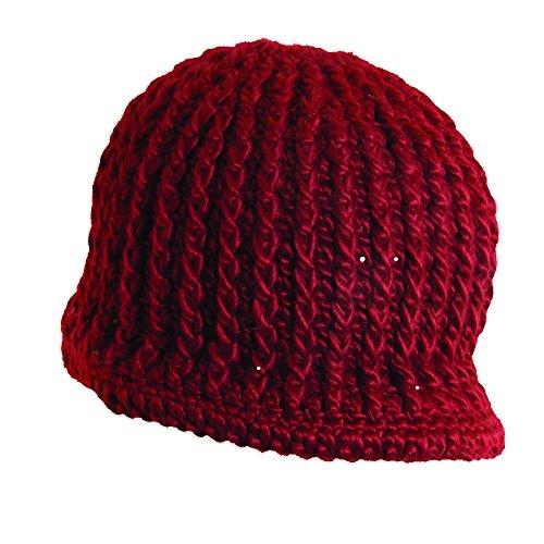 Radar Knit Hat (Woolrich Knit Radar Knit Caps (Ruby))