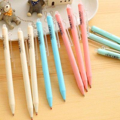 Cute Kawaii 0.5mm Gel Pens Eraserble With Eraser Writing Office School Supplies