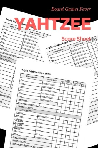 Yahtzee Score Card: Score Sheet for All Yahtzee Game for sale  Delivered anywhere in USA