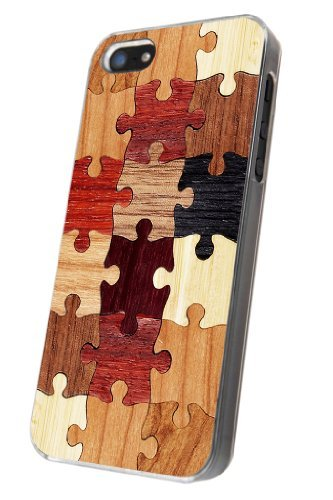 Iphone 5 5S Cool Funky Wooden puzzle Design Case/Back cover Metal and Hard Plastic Case (Cath Kidston Iphone 5 Case)