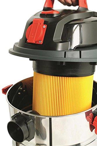 CARAMBA Asciutto Bagnato aspirapolvere NTS CP-WDE 2314/di S Inox/ /Multifunzione Multiuso Aspirapolvere con Funzione della vescica 1400/Watt Presa Integrata in Acciaio 23/Litri