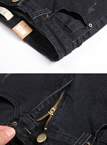 Pantaloni Dimensioni Scuro Donna Jeans Lihaer Casual Grigio Stretch Di Dritta E Slim Da Donne Gamba Grandi A 48XwaqxYw