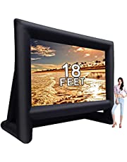 GYUEM 18 feet Inflatable Outdoor Projector Movie Screen - Package with Rope, Blower, Tent Stakes - Portable,Great for Outdoor and Indoor Party Backyard Pool Watch Movies