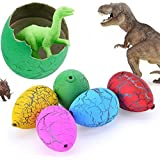 Jofan 24pcs Novelty Magic Big Size Crack Dinosaurs Eggs Hatching Toy with Mini Toy Dinosaur Figures Inside - Great for Birthday Party Favors