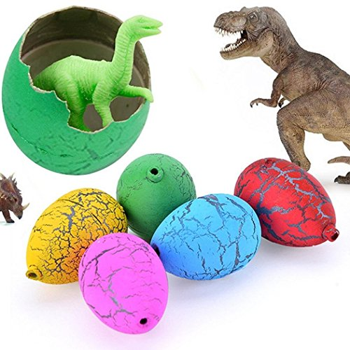 Jofan 24pcs Novelty Magic Big Size Crack Dinosaurs Eggs Hatching Toy with Mini Toy Dinosaur Figures Inside - Great