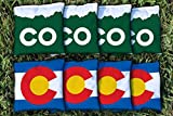Victory Tailgate Colorado CO Themed Replacement Cornhole Bag Set (All-Weather)