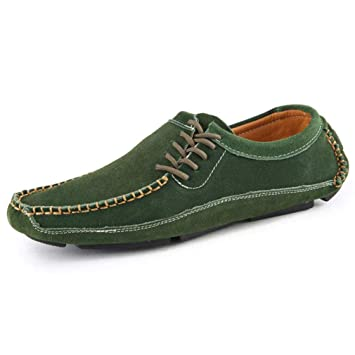 YAN Calzado de Hombre Gamuza Otoño e Invierno 2018 Mocasines y Zapatos sin  Cordones Zapatos de f0bdac96171