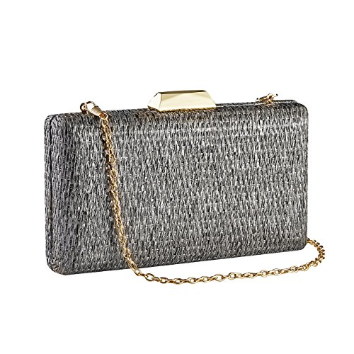 Party Bar GGBAZZARA Evening Purse Gray Dance Wedding Clutch Bridal Prom Bag Bags Womens for Handbag qOTwqrzB