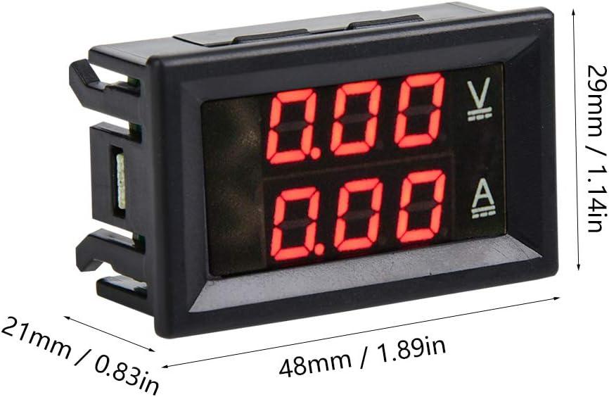 DC 0-100V 50A Amperometro Voltmetro Digitale LCD Schermo Igrometri