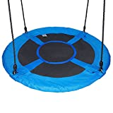 60cm/24'' Disc Nest Web Rope Hanging Tree Swing Seat Set Heavy Duty Easy to Set Up For Kids Children Outdoor Backyard Garden Small Size