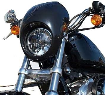 Carenado Sportster Harley Davidson Dyna cabeza luz máscara para adaptarse a 1973-up: Amazon.es: Coche y moto