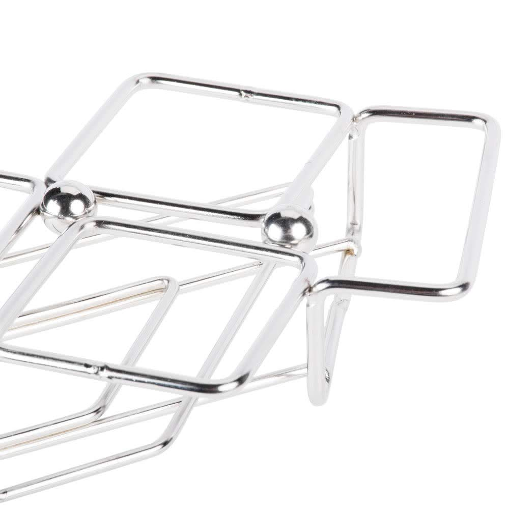 8'' x 3.5'' Stainless Steel Dessert Caddy with 5 Square Holders, Clipper Mill by GET 4-82015 (Qty,1) (Glasses Sold Separately)