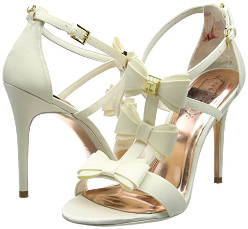 cream Women's Baker Heels Open Ted Off toe white Appolini O85qddw