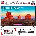 LG Electronics 86UK6570 86-Inch 4K Ultra HD Smart LED TV (2018 Model), 50 Netflix Gift Card, Wall Mount, 2 HDMI Cables