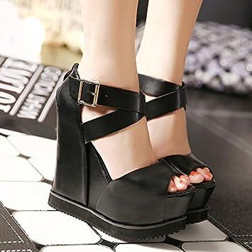 Nouvelles Femmes Sandales chaussures à talons hauts Etanche Bout Ouvert pour été nEshv1