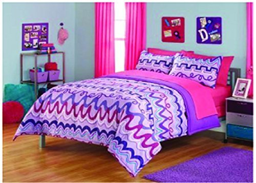 3 Piece Reversible Multi-Color Microfiber Bedding Comforter Set