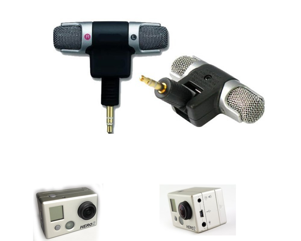Professional Microphone for GOPRO hero 2, 3 and 4 silver out of housing recording Bubbles Designs Gopro2-KAIUDMFIDKAJ01