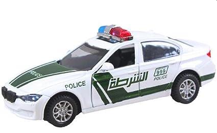 Amazon Com Naughtytoys 1 32 Alloy Dubai Police Car With Lights