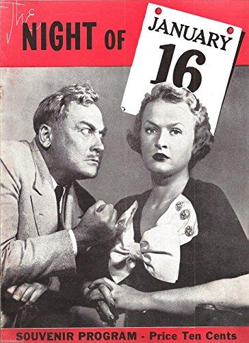 "Ayn Rand's""NIGHT OF JANUARY 16"" Leo Kennedy/J. Arthur Young 1935 Broadway Souvenir Program"