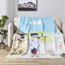 Subrtex Blanket Throw Twin Warm Digital Printing All Season Blanket for Bed or Couch Super Soft (Boy and Puppy, 50''x60'')