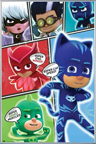1art1® Pj Masks Poster and Frame (Plastic) - Super Cat Speed (36