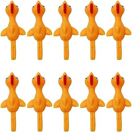 Stretchy Funny Slingshot Flying Chicken Stretchable Slingshot Chicken for Kids Adults Festival Party Activity 15 Pcs Slingshot Chicken /& Dinosaur Rubber Toys Flicking Chicken Flinger Stress Gag Toy