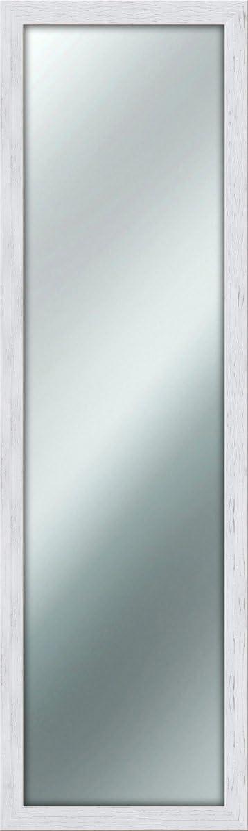 Lupia - Espejo de pared y estilo Shabby Chic, Color Blanco, 40x 125 cm