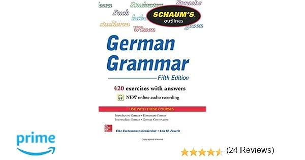 Amazon.com: Schaum's Outline of German Grammar, 5th Edition ...
