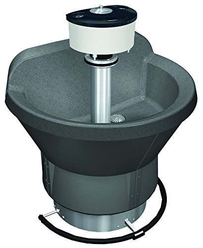 (Bradley S93-596 Bradstone Classic Semicircular Carbon Wash Fountain for Up to 3 Users, 36