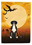 Caroline's Treasures BB4303GF Halloween Greater Swiss Mountain Dog Garden Size Flag, Small, Multicolor For Sale