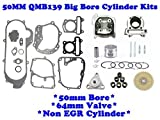 #5: QMB139 50mm Big Bore Cylinder Kit Non-EGR with 64mm Valve