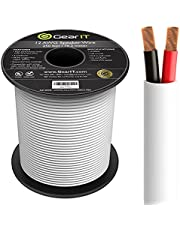 GearIT Pro Series 12 AWG CL2 OFC - Cable de altavoz para pared (calibre 12 AWG, 76,2 m), cobre libre de oxígeno OFC, UL CL2, cable de altavoz para el cine en casa y audio de coche