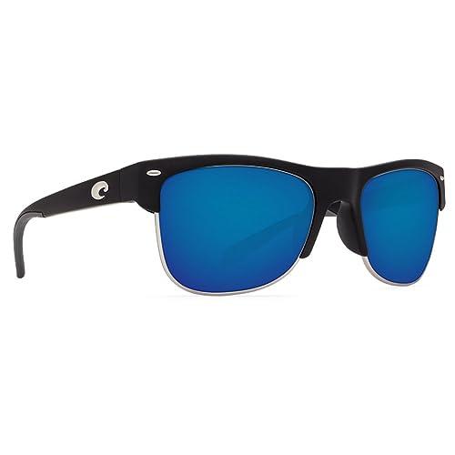 cbd253c25c00 Costa Del Mar PW11OBMGLP Pawley's Sunglasses 580Glass, Matte Black Blue  Mirror, Medium