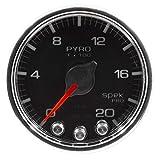 Auto Meter P31031 Gauge, Pyro. (Egt), 2 1/16'', 2000ºf, Stepper Motor W/Peak & Warn, Blk/Chrm, Spek-Pro