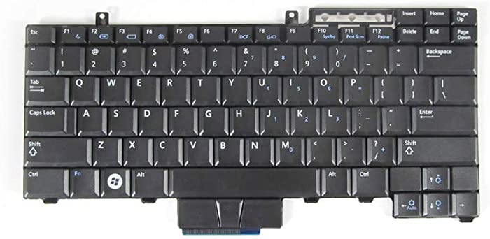 New Keyboard for DELL Latitude E6400 E6410 E6500 E6510 E5400 E5410 E5500 E5510, Precision M2400 M4400 M4500 US Black Non-Backlit Without Pointer