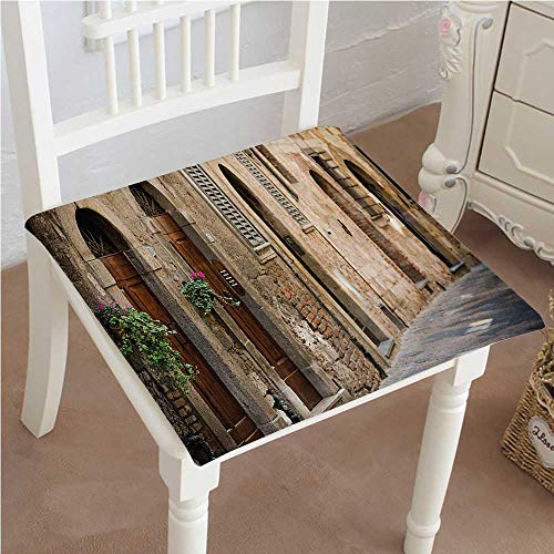 Mikihome Chair Pads Classic Design Street Wine Antcient in Italy Tuscany on a Street with Details Cotton Canvas Futon 30