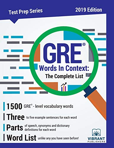 Pdf Test Preparation GRE Words In Context The Complete List (Test Prep Series)