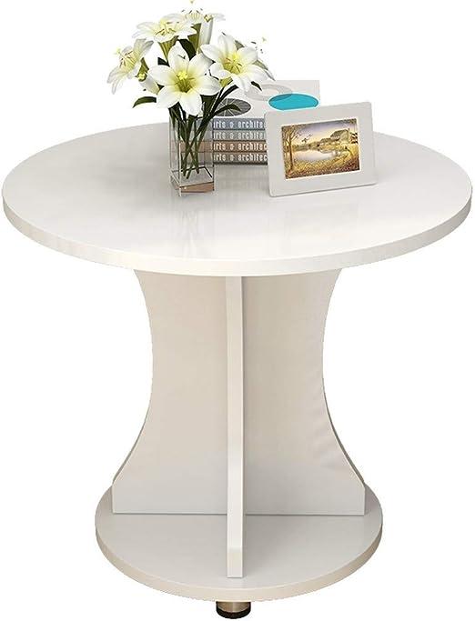Hermosa Apariencia Tabla pequeña Cafetera for la casa estudio dormitorio, de múltiples funciones creativo Mini mesa de centro mesa del living pequeña mesa redonda de almacenamiento en rack, 3 colores: Amazon.es: Hogar