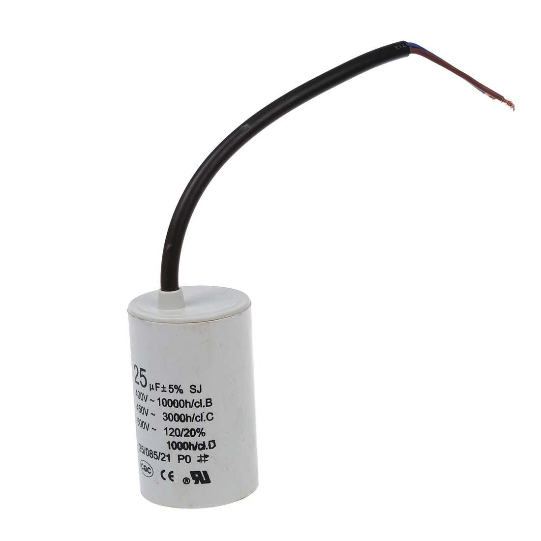 TOOGOO(R) CBB60 450VAC 25uF 5% Condensatore motore a morsettiera cablato