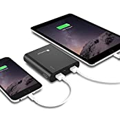 GreatShield 10000mAh PowerTank - Rapid Charging 3.4A Dual USB Output [5V/1A & 5V/2A] Aluminum Casing Portable...