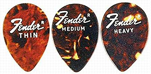 Fender 358 Jazz Guitar Pick Shell Thin 6 (Fender Jazz Guitar Picks)