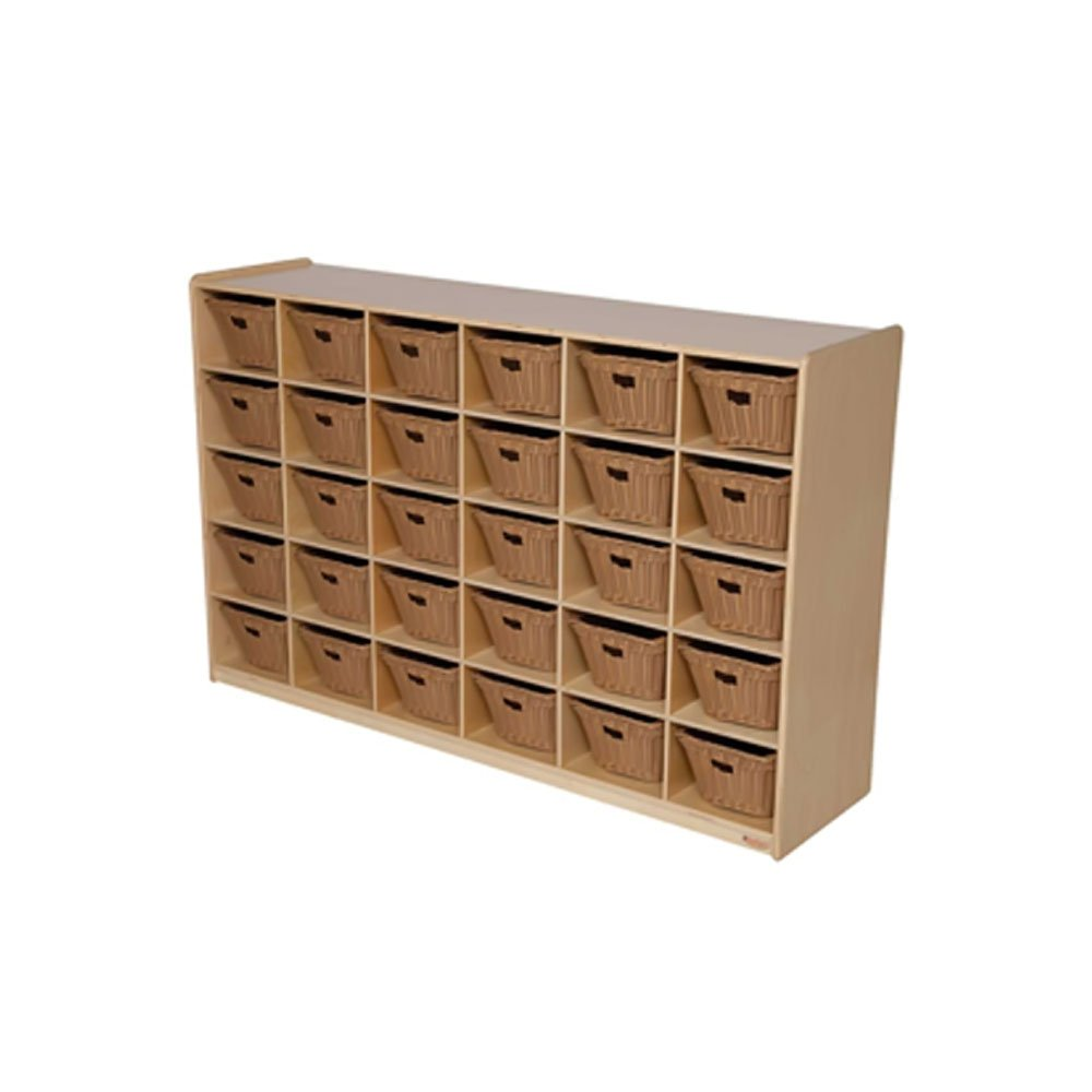 Natural Environment 30 Compartment Cubby Bin Color: Basket