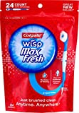 Colgate Max Fresh Wisp Disposable Mini Toothbrush, Peppermint - 24 Count, 6-Pack