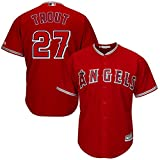 Mike Trout Los Angeles Angels Of Anehiem Infants Red Kids Cool Base Road Replica Jersey