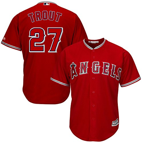 Mike Trout Los Angeles Angeles Anaheim Red Mlb Kids Alternate Replica Jersey  Kids 5 6