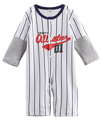 A&J Design Baby Boys' Toddler Baseball Player Costume Romper (18-24 Months, (Little Boy Baseball Costume)