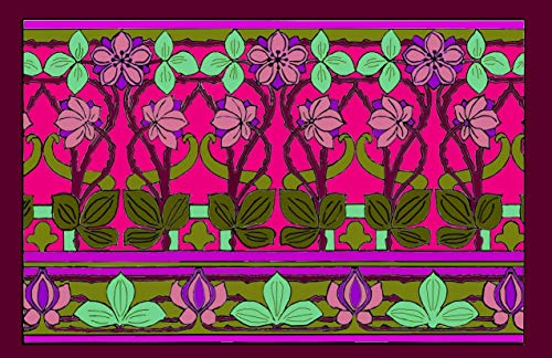 ART DECO COLORING COLLECTION-FANTASY FLORAL-SET OF 4 PLACEMATS TO COLOR PLUS 4 LAMINATING POUCHES,PRACTICE PLACEMAT AND STORAGE ENVELOPE
