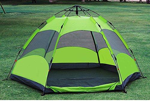 TY&WJ Familie Campingzelt Outdoor Hexagon Auto Zelte Schnell öffnen Große Double Layer DoppeltÜren Kuppelzelte Wasserdicht 5-7 Personen